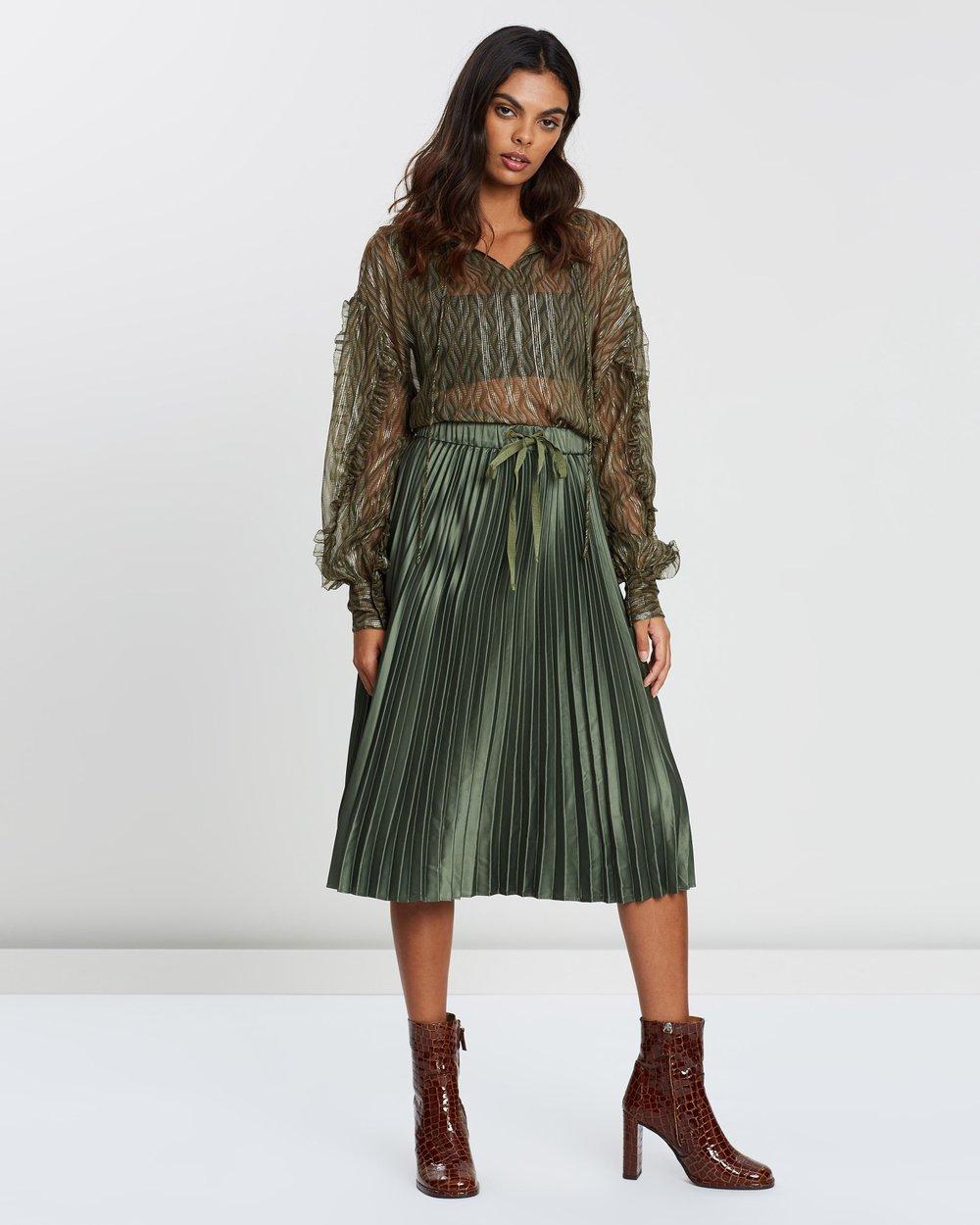 a29b19c6f Shiny Pleated Skirt by Maison Scotch Online   THE ICONIC   Australia
