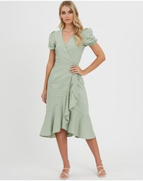 The Fated - Zenith Wrap Midi Dress