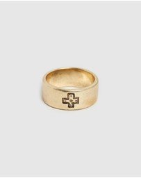 Locale - Engraved Cross Band Ring