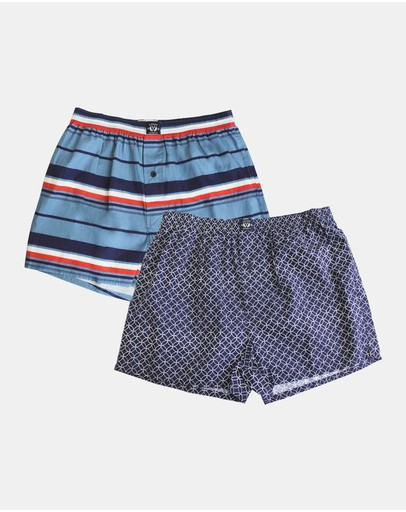 Coast Clothing Geo Boxer 2 Pack Navy