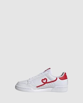 adidas Originals Continental Heart Grade School - Sneakers (White/Red)