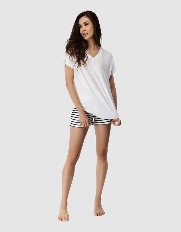 Women Santa Monica Shorts & Tee Set