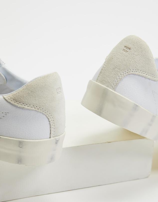 Women Crest Leather Print Sneakers - Women's