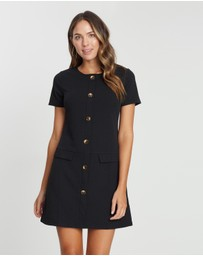 Dorothy Perkins - Horn Button Shift Dress