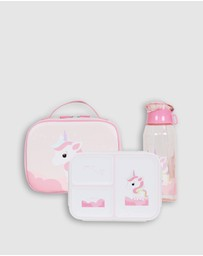 Bobbleart - Large Lunch Bag Bento Box and Drink Bottle Unicorn