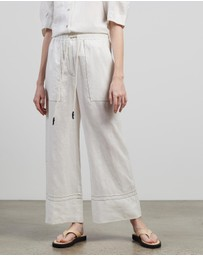 Lee Mathews - Sidney Linen PJ Pants