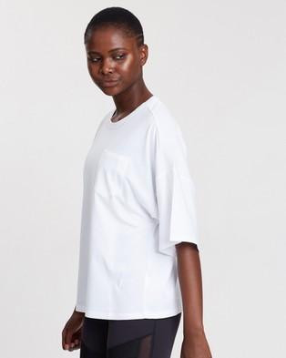 Reebok Performance - Training Supply Pocket Tee - Short Sleeve T-Shirts (White) Training Supply Pocket Tee