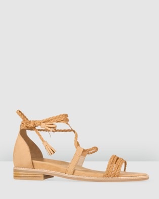 Bared Footwear - Galah Flat Sandals Women's (Tan Nubuck)