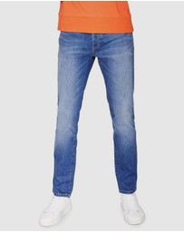 Topman - Mid Wash Stretch Slim Jeans