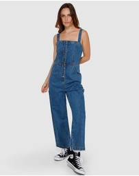 RVCA - Overworked Denim Overalls