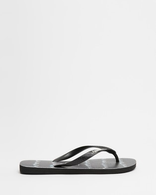 Havaianas - Top Stripe Zag   Men's - All thongs (Black) Top Stripe Zag - Men's