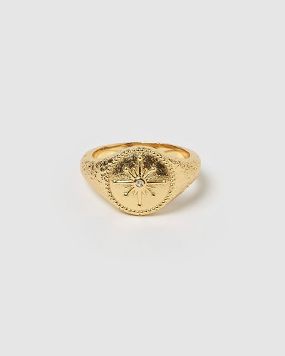 Wandering Star Gold Signet Ring