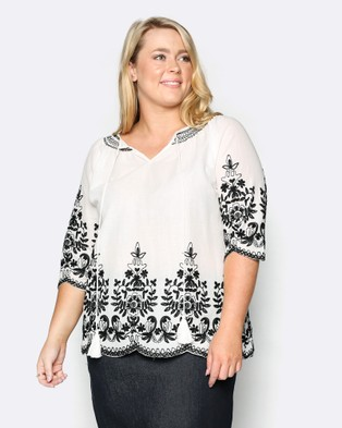 Adrift – Eliza Top White