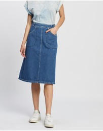 Kenzo - Knee Length Denim Skirt