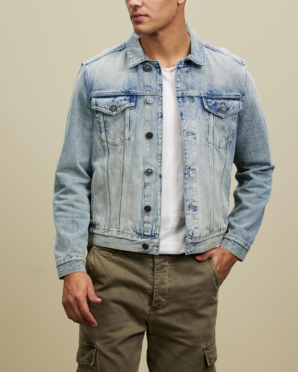 AllSaints Destin Jacket Denim jacket Mid Indigo