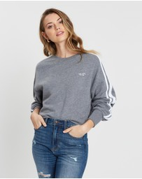 Hollister - Logo Crop Crew Sweater