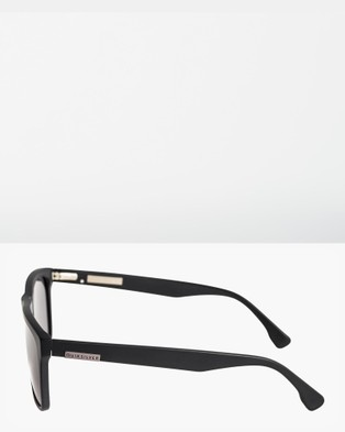 Quiksilver Mens Ferris Slim Sunglasses - Sunglasses (MATTE BLACK/GREY)