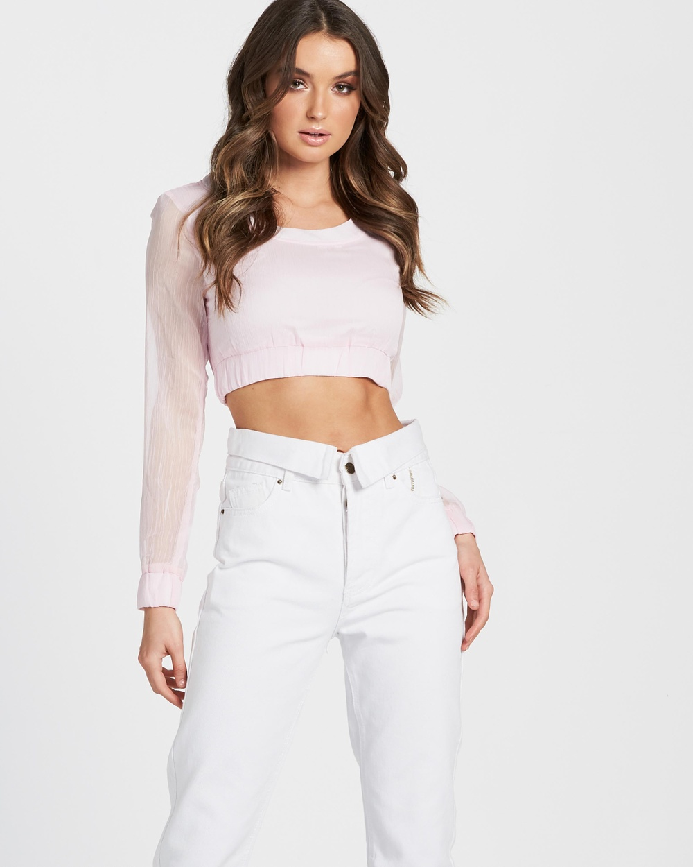 Lioness Up In Smoke Crop Top Cropped tops Pink Up In Smoke Crop Top