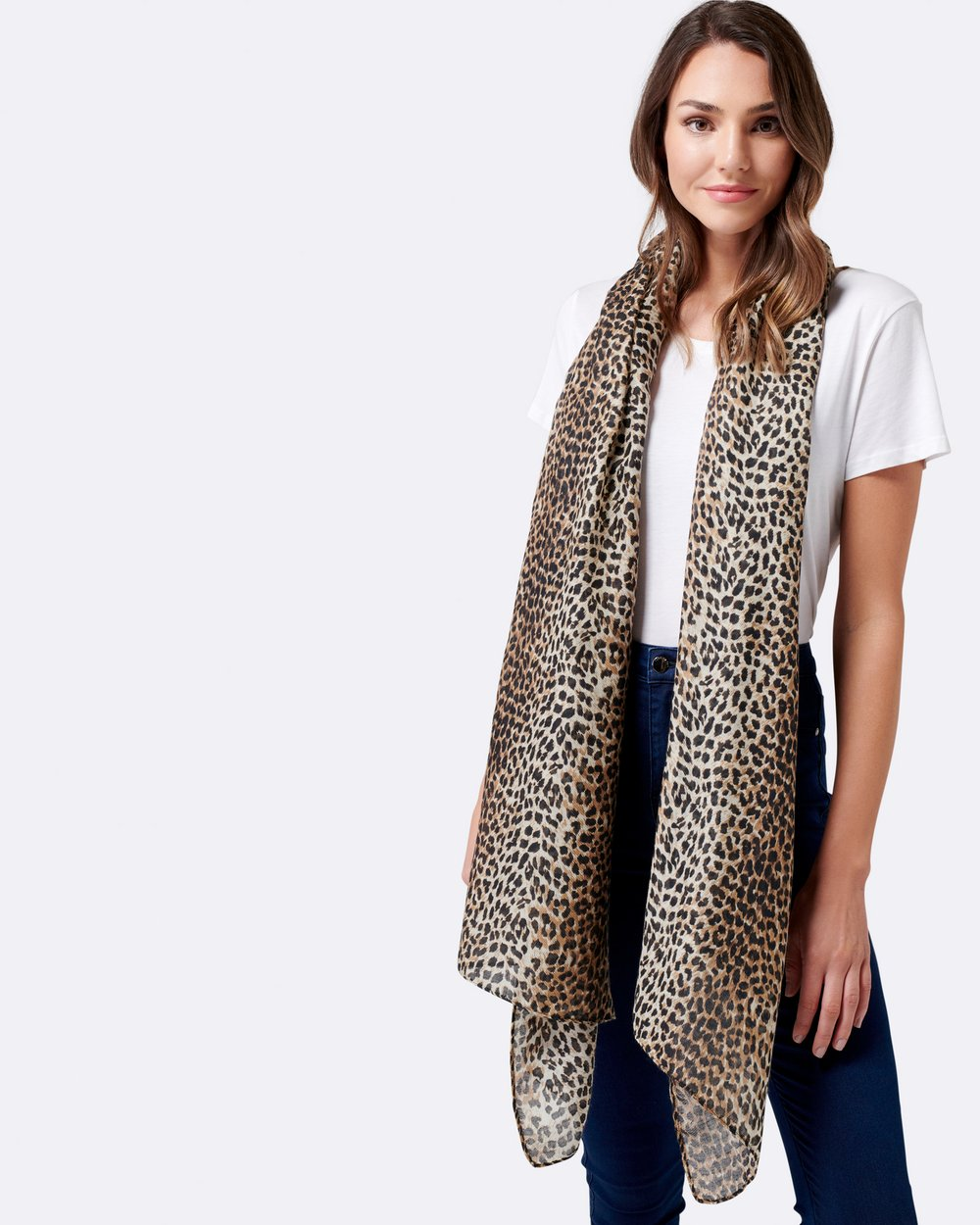 c4cd43c99fee Mila Leopard Print Scarf by Forever New Online