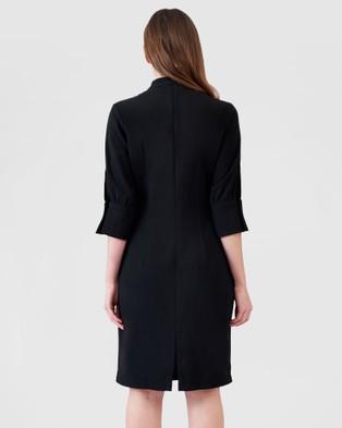 ARIS Long Sleeve Keyhole Dress - Dresses (Black)
