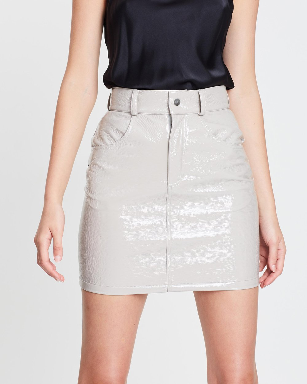 83e07d595 Patent Mini Skirt by Michael Lo Sordo Online | THE ICONIC | Australia