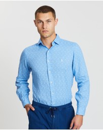 Polo Ralph Lauren - Long Sleeve Printed Linen Sport Shirt