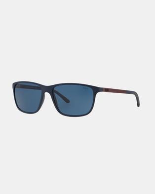 Polo Ralph Lauren Polo Logo PH4092 - Sunglasses (Blue)