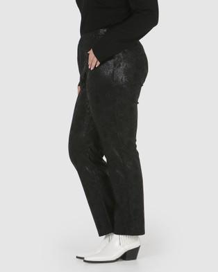 Advocado Plus - Essential Slim Fit Pants (Black Croc)