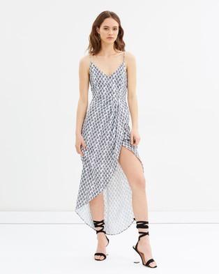 Grace Willow – Heleena Dress Navy & White