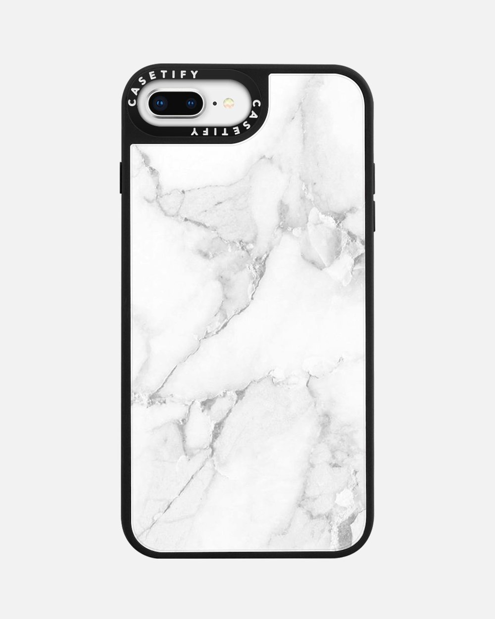 15808d0231 Material Marble Case for iPhone 8+ - Minimalist White by Casetify Online |  THE ICONIC | Australia