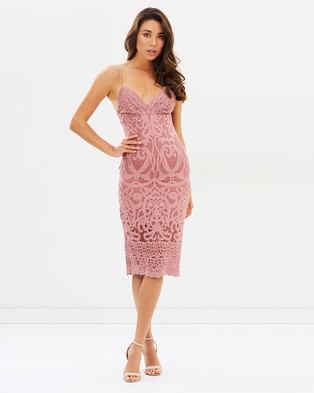 Bardot – Gia Lace Dress – Bridesmaid Dresses (Mauve)