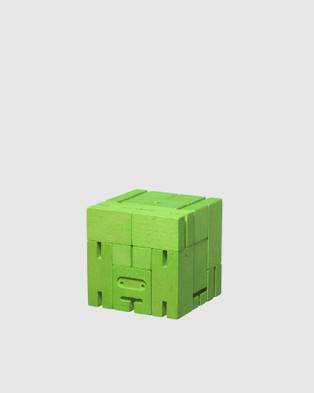 Areaware Cubebot Small Robot Toy - Accessories (Green)