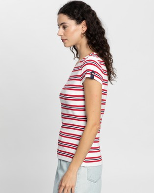 Review Heron Stripe Top - Tops (White Multi)