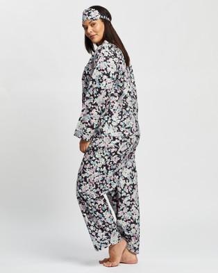 Atmos&Here Curvy Audrey Long PJ Set Two-piece sets Dark Floral