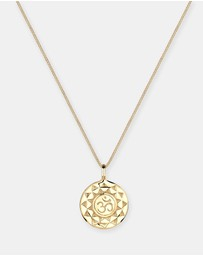 Elli Jewelry - Necklace OM Talisman 925 Sterling Silver Gold Plated