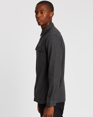 Australia Patagonia Long Sleeve Fjord Flannel Shirt - Casual shirts (Forge Grey)