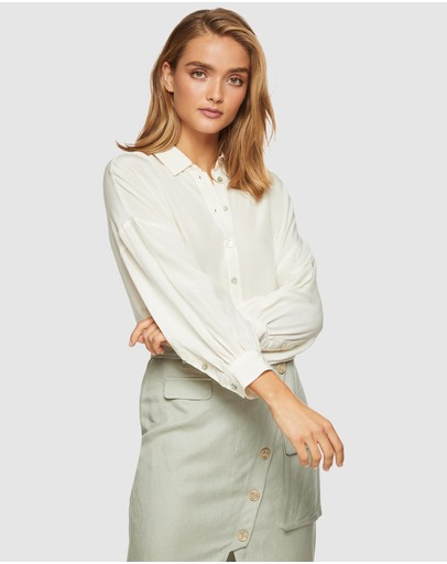 Oxford Lara Full Sleeve Blouse Ivory