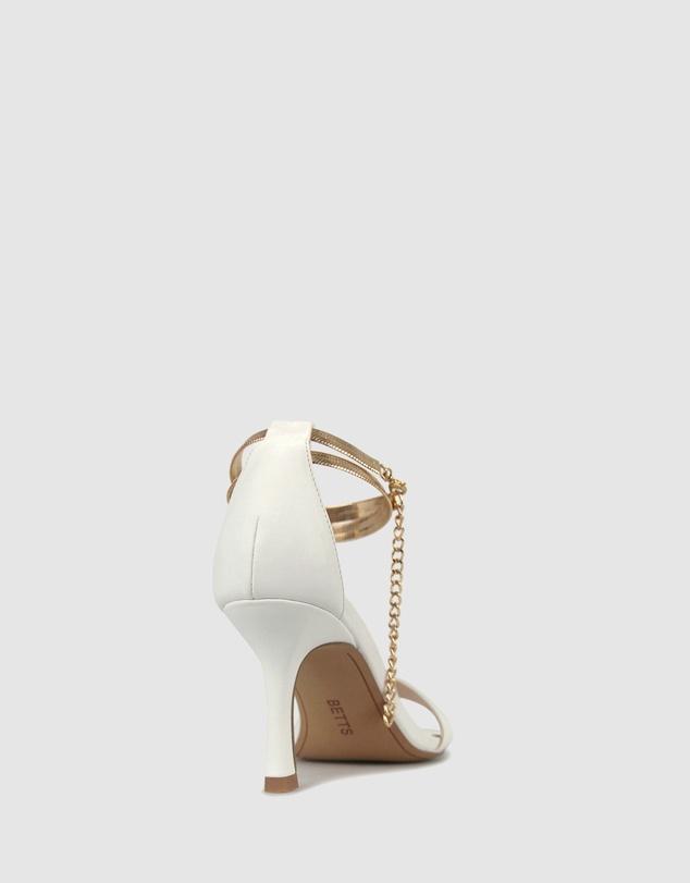 Women Cript Ankle Chain Stilettos