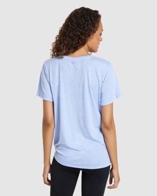Rockwear V Neck Longline Side Tie Tee - Short Sleeve T-Shirts (VIOLET)
