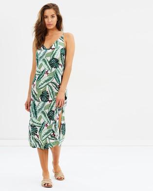 Seafolly – Palm Beach Slip Dress Moss
