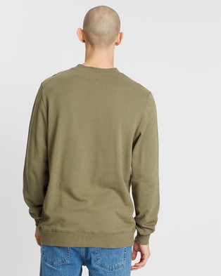 Lee Exclusive Zephyr Classic Crew Sweater - Sweats (Washed Olive)
