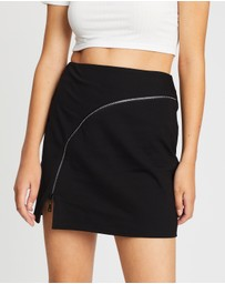 TWIIN - Pressure Zip Mini Skirt