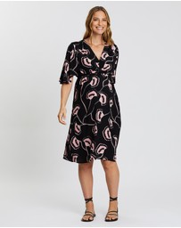 Angel Maternity - Maternity V-Neck Dress