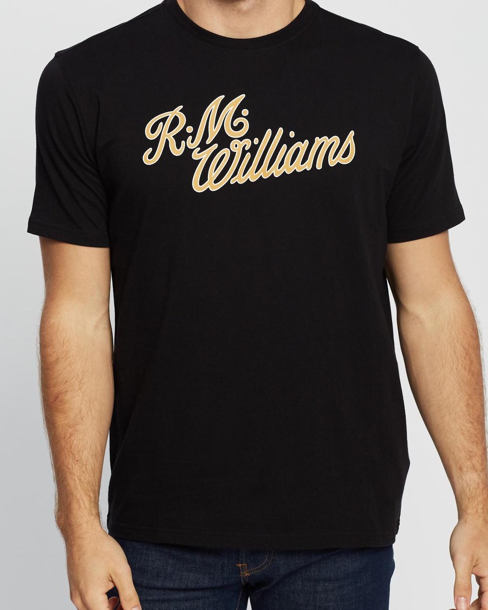 R.M.Williams R.M.W. Script T Shirt T-Shirts & Singlets Black T-Shirt Australia