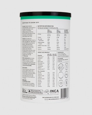 Inca Organics Certified Organic Whey Protein Powder   Coconut   400g - Proteins (Green)