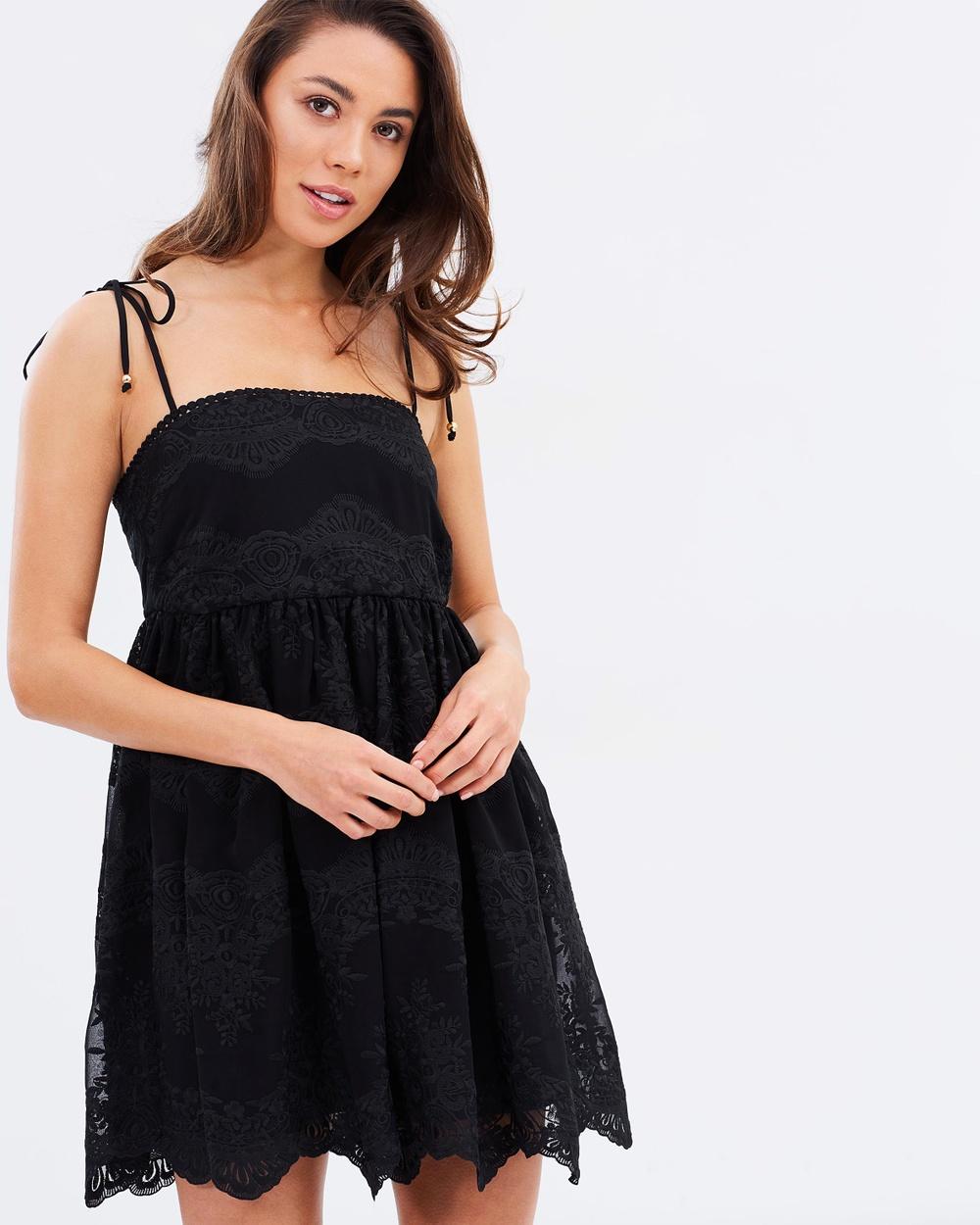 Shona Joy Antigua Baby Doll Mini Dress Dresses Black Antigua Baby Doll Mini Dress