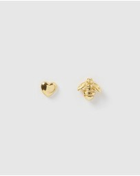 Izoa Kids - Honey Love Stud Earrings