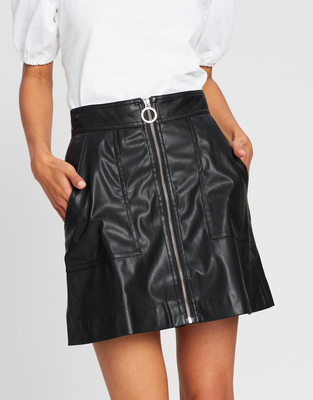 Lover - Paint It Black Mini Skirt