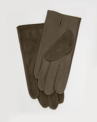 Kate & Confusion Aspen Suede and Leather Gloves - Outdoor Gloves (Brown)