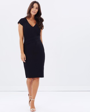 Forcast – Deb Pleat Waist Dress – Dresses (Black)